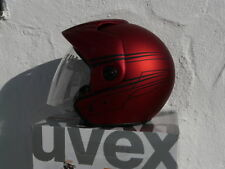 Motorradhelm Jethelm Uvex Jet 120  rot schwarz XL  Neu