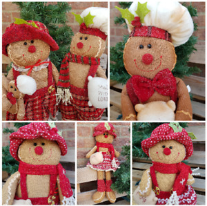Christmas Gingerbread Boy Chef Girl Decoration Plush Gingerbread People Choose