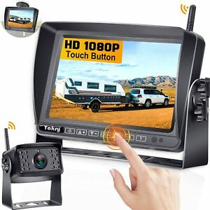 YAKRY Y31 Wireless Camera Backup System 1080P with 7 Inch Touch Button Monitor