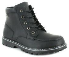 Scarpe stivali neri con lacci per bambini dai 2 ai 16 anni