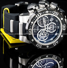 Invicta Mens Reserve Subaqua Sea Dragon Swiss Z60 Chronograph Blk Strap SS Watch