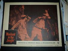 MANHUNT IN THE JUNGLE, orig 1958 LC #6 (Robin Hughes, Luis Alvarez)