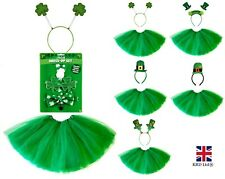 ST. PATRICKS DAY FANCY DRESS COSTUME Kids Adult Irish Party Hats Accessorr UK