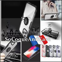 Etui coque housse magnétique ring case cover iPhone 12, Mini, 12 Pro, 12 Pro Max
