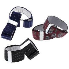 3pairs Men Elastic Shirt Sleeve Garter Adjustable Armband Sleeve Cuff Holder