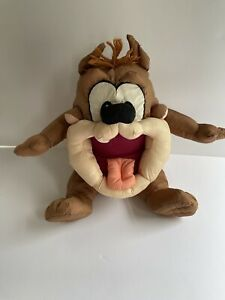 LOVABLE Looney Tunes Baby Taz Tasmanian Devil Plush 1995 Tyco Smooth Silky RARE