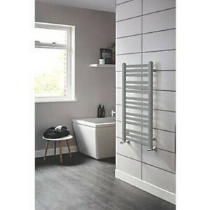 BLYSS CAP08GC075 ANGLED BAR TOWEL RADIATOR 900 X 500MM SILVER