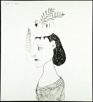 "DDR. ""Frau mit Traum"" 1983. Lithographie Karla WOISNITZA (*1952 D), handsigniert"