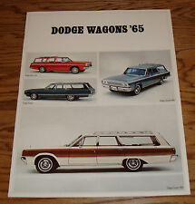 Original 1965 Dodge Station Wagon Sales Brochure 65 Dart Polara Coronet Custom