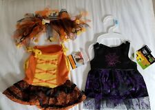 PET HALLOWEEEN COSTUMES.    2 FEMALE OUTFITS and HEADPIECE