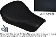Diamante Stitch Negro Custom encaja Harley Sportster 883 48 72 Rider cubierta de asiento
