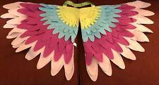 Bird Wings Costume Child's Felt Fun Halloween Dress Up Play Multicolor NEW