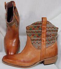 LA FÉE MARABOUTÉE Damenstiefel Cowboy Boots EU 39 NEU Braun Leder Western NP229€