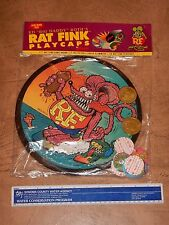 "1990s RAT FINK PLAY CAPS / POGS  GAME ED ""BIG DADDY"" ROTH, SEALED, NOS #1"