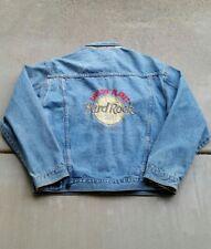 Vintage 90s Hard Rock Cafe Save The Planet Denim Jacket Trucker
