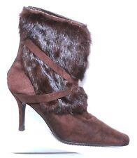 Pierre Dumas Ankle Boots Heels Real Fur Women's Size 7