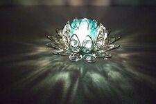 InspirationWorld Decor Jyoti/Deep,Pooja Diya Fancy Crystal Lotus BLUE T-light