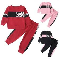Toddler Kids Girls Clothes Tracksuit Outfits Set Long Sleeve Hooded Tops Pants