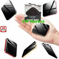900000mAh Mini Thin Dual USB Portable Power Bank External Battery Backup Charger