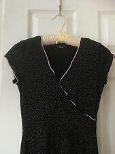 huminska dress size 2  XS faux-wrap cap sleeve stretch jersey