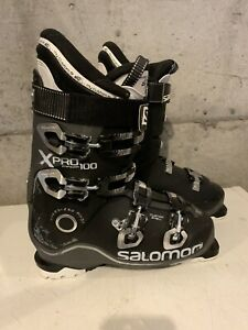 Soloman X Pro 100 Men's Ski Boots-Black-Size 28.5