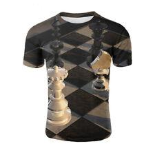 Black and white Go down chess Women Men T Shirt 3D Print Short Sleeve Tee Top
