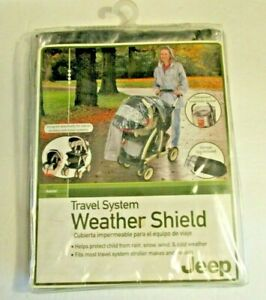 JEEP WEATHER SHIELD FOR TRAVEL SYSTEM BABY INFANT STROLLERS PLASTIC RAIN COVER
