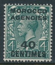 1925-34 MOROCCO AGENCIES 40c on 4d GREY-GREEN FRENCH OVPT FINE MINT MNH SG206