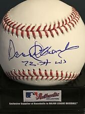 DAROLD KNOWLES  OAKLAND A'S    72-74 WS CHAMPS   SIGNED OML BASEBALL