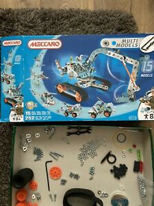 Meccano 15 Multi Models Set 6515 Box and inner bags Opened *2 PARTS MISSING*