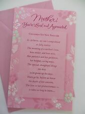 "NEW AMERICAN GREETINGS CARD Happy Birthday Mother Pink Floral  ""Gorgeous"""