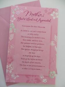 """NEW AMERICAN GREETINGS CARD Happy Birthday Mother Pink Floral  """"Gorgeous"""""""