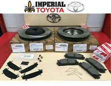 TOYOTA GENUINE OEM NEW 2007-2017 CAMRY OEM FRONT BRAKE ROTORS TCMC PADS & SHIMS