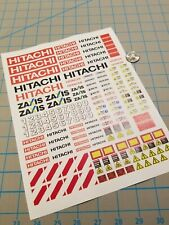New HITACHI Scale Construction Equipment Decals for 1:12/1:14/16 RC Vehicles
