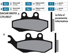174.0017 PLAQUETTE DE FREIN ORIGINAL POLINI GILERA RUNNER 125 VX