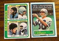 Steve Largent Topps 1978 #526 and 1983 #389 - Seahawks