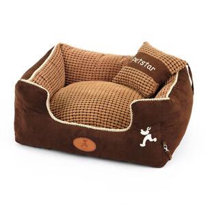 HOOPET Hundbett mit Kissen, Hunde Schlafenplatz Sofa,Bezug abnehmbar, waschbar