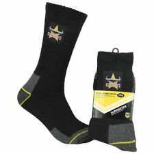 130067 NORTH QUEENSLAND COWBOYS NRL 2 PACK MENS WORK SOCKS TRADESMEN 7-11