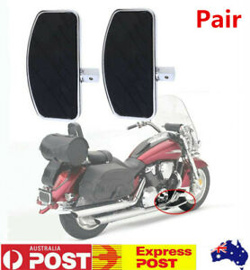 2X Motorcycles Left&Right Floorboards Front Rear Foot Boards Pedal for Harley AU
