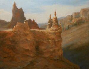 Bryce Canyon National Park, Utah 8x10 original oil painting Celene Farris
