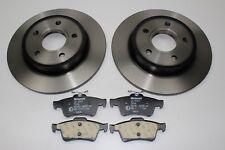 Original Brake Discs + Brake Pads Rear Ford Focus - C - Max 1748745 +1809259