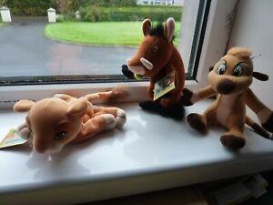 """Rare Disney Store The Lion King Kiara,Pumbaa Timon Plush Soft Toys 9"""""""