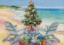 Cross Stitch Kit ~ Gold Collection Christmas On The Beach Tree & Gifts #70-08832