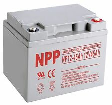 NPP 12V 45 Amp 45Ah 50Ah Wheelchair Battery Replaces 38ah Kung Long WP38-12