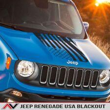 Jeep Renegade USA distressed Hood Blackout Decal blackout Matte Black 2015+