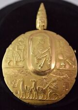 "18K Yellow Gold Peruvian  Pendant / Pin  2.5"" Diameter"