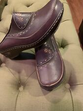 Spring Step Bown Leather Clogs  Sz 41 US 7.5 EUC