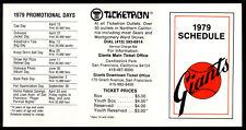 1979 Baseball San Francisco Giants Pocket Schedule UNFOLDED & UNUSED NM Original