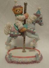 Enesco Cherished Teddies Carousel Archie on Horse 589977 9H2/982