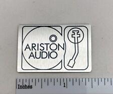 Ariston Audio Turntable Badge Logo for Base - Custom Made Aluminum Free Shipping